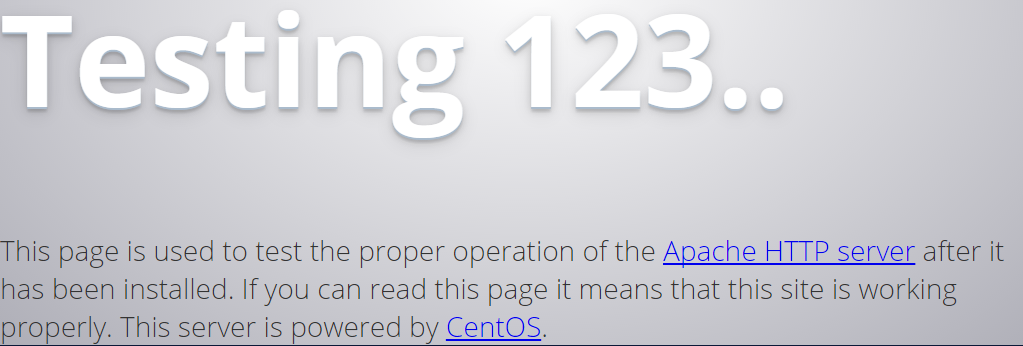 CentOS test http page.