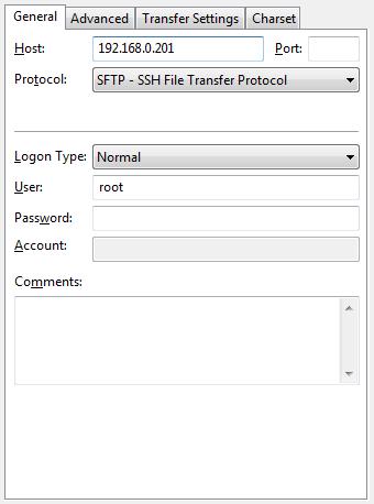 Filezilla SFTP